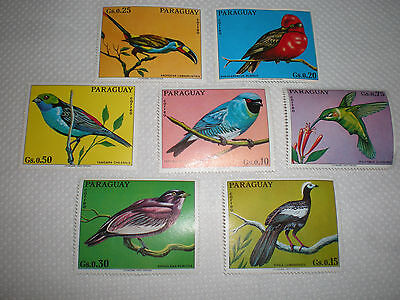 Paraguay  Postage Stamps -   7  Birds