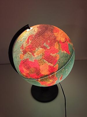 "Vintage Scan Globe A/S World 12"" Globe Denmark Lighted Illuminated 1987 EUC"