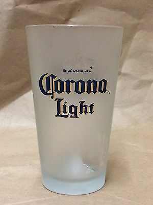 Corona Light 16 Ounce 1 Pint Frosted Beer Glass