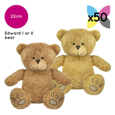 50x EDWARD TEDDY BEARS SOFT TOYS WHOLESALE BULK BUY WITHOUT CLOTHING PLAIN NAKED