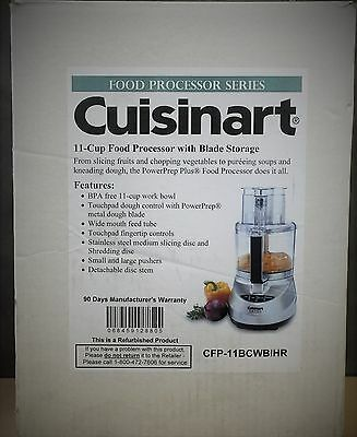 NEW, Cuisinart 11-Cup Food Processor with Blade Storage