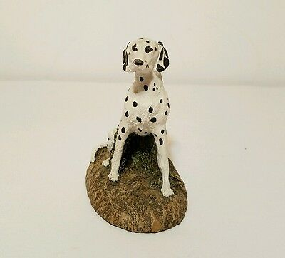 Vintage Dalmatian Bronze Kennel Collection - Hand Painted Figurine