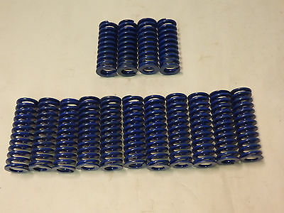 "Lot of 14 Blue Die Springs: (10) 3.06"" x 1""  (4) 2.75"" x 1"" -mould mold seat(K5)"
