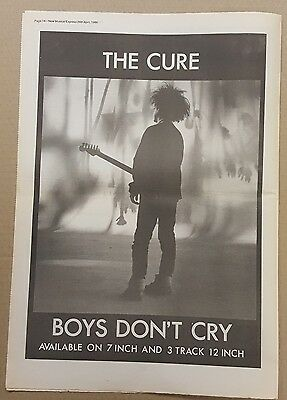 The Cure Boys don't cry  press advert Full page 30 x 41cm mini poster