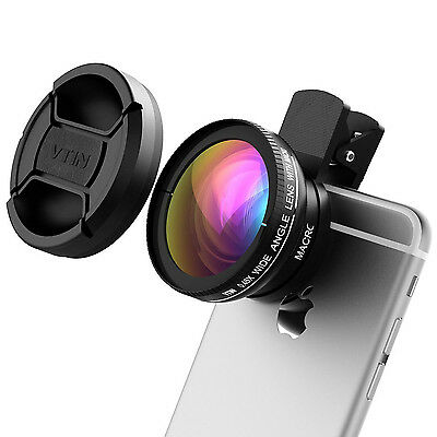 2 in 1 Professional HD Lens Kit 10x Superb Macro Mobile Wide Angle 0.45x Clip-On