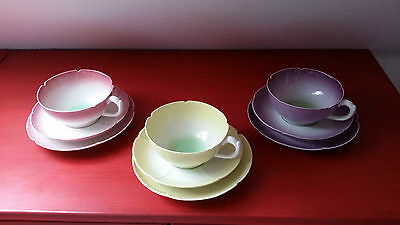 Three Trios - Branksome china cups, saucers & plates