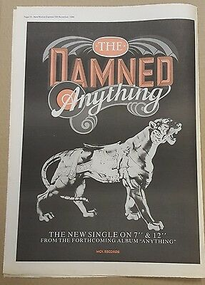 The Damned Anything press advert Full page 30 x 41cm mini poster