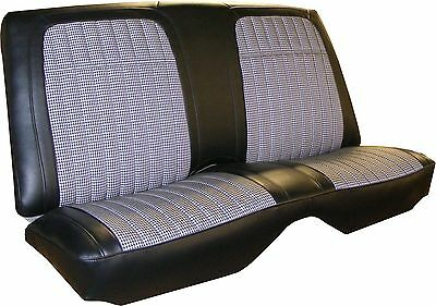 1969 Camaro Deluxe Black Houndstooth rear seat cover