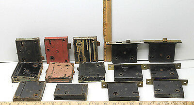 14 Vintage Penn Mortise Exterior Door Lock Lot P&FC+Corbin+Penn Dead Bolt Locks
