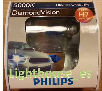 2 x PHILIPS DIAMOND VISION H7 5000K 55w (Registered mail)