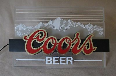 Coors 'Indoor Light Up Sign' / COORS EDGELIGHT advertising - 1980's