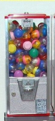 """NEW !! Oak 50 Cent Vending Machine 2"""" Toy Capsule Gumball Northwestern Coin Op"""