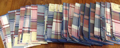 Waverly Plaid Napkins Red Blue Green White 85929 New Match Placemats Available