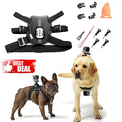 GoPro Fetch Dog Harness Chest Mount Accessory 10 in 1 for HERO 5 4 3 Black Sport
