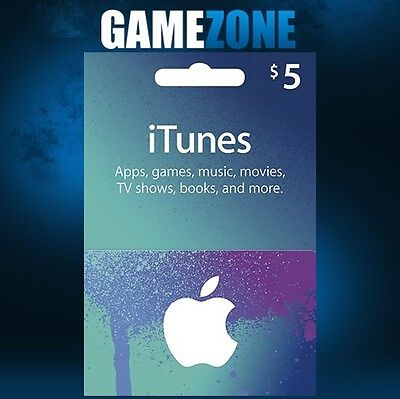 $5 USD iTunes Gift Card USA Apple iTunes Voucher Code 5 Dollars - United States