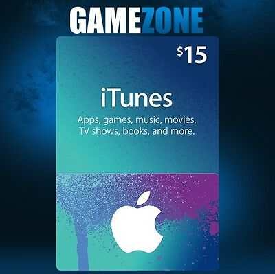 $15 USD iTunes Gift Card USA Apple iTunes Code 15 Dollar - United States
