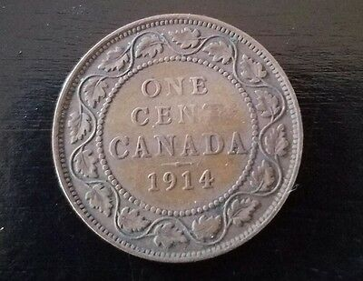 1914 CANADA LARGE CENT nice coin