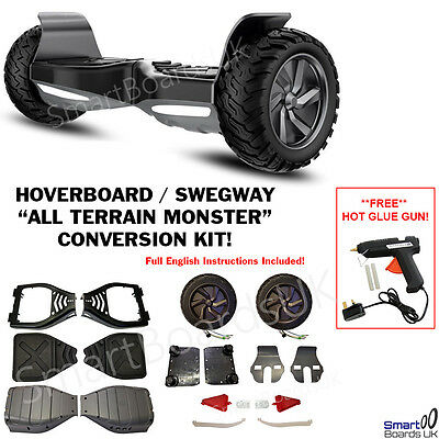 ALL TERRAIN MONSTER CONVERSION KIT - Hummer Hoverboard Swegway 8.5 Inch *UK*