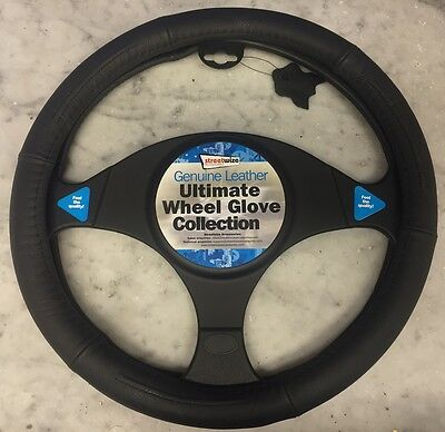 Genuine leather 'Ultimate Wheel Glove' collection; steering wheel cover