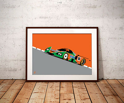 Mazda 787b: Le Mans (A3) Print by RacingLineDesigns
