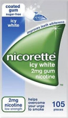 NICORETTE 2mg LOW STRENGTH icy white sugar free gum - 105 pieces