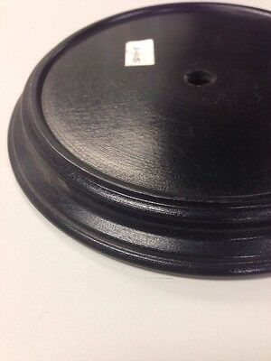 """5"""" round wooden lamp base STAND lamp part"""