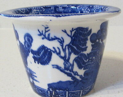 English Maling Meat Pot - Willow Pattern  CIRCA 1920 BIG REDUCTION BUY NOW