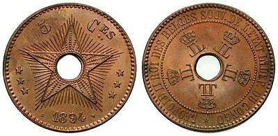 *CCC* Congo Free State 5 Centimes