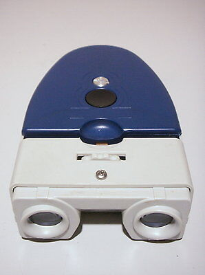 Vintage Brumberger Stereo Slide Viewer   Blue and White                       #3