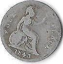 Uk 1843 Victorian Young Head Silver Groat - (#133-Bk4)