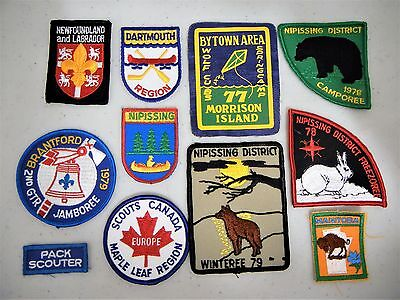 BOY SCOUTS PATCHES VINTAGE 1970's JAMBOREE CUBS CANADA LOT of 11  (#3)