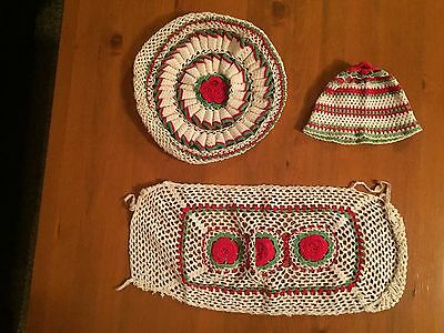 Vintage 3 Piece Croche Doily Set
