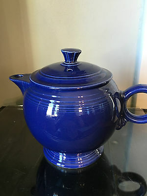 Fiesta Vintage Cobalt Teapot with Flat Top