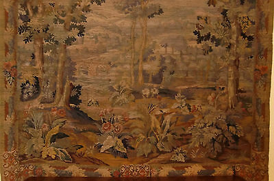 """French antique tapestry Mid 19th century-- 7' high X 8'2"""" wide"""