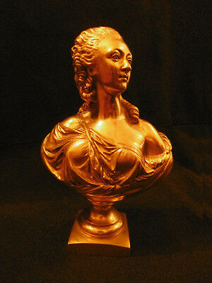 Bust Signed, Madame Du Barry, Era 19Th - After Pajou - Bronze - French Antique