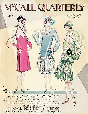 Vintage Sewing Pattern Catalog Booklet McCall Quarterly Summer 1926 Copy on CD