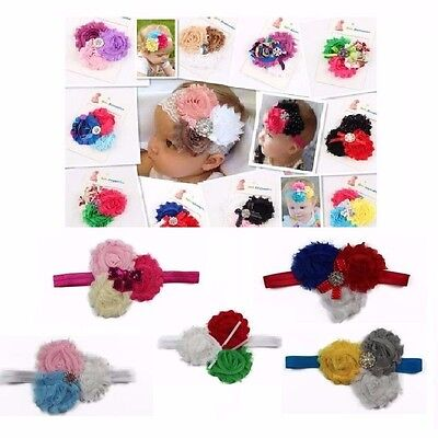 Baby Headband Head Band Flower Girl Newborn Toddler Hair Birthday Christening