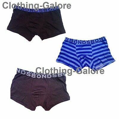 BONDS Boys 3 Pack Pair Underwear Boyleg Trunks Undies Boxer Shorts *ALL SIZES*