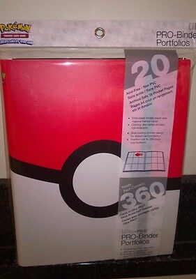 Ultra Pro Pokemon Pokeball  9 Pocket Page Portfolio Album Binder Holds 360 cards
