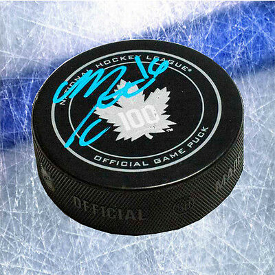 Mitch Marner Toronto Maple Leafs Signed 100th Anniversary Game Puck