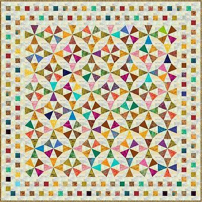 "JIMBARAN - Batik - Queen 85"" x 85"" - Pre-cut Quilt Kit by Quilt-Addicts"
