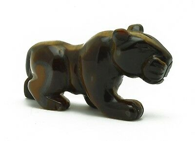 Hand Carved Gemstone Panther - Tiger's Eye - Be the fiercest in the jungle!