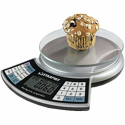 Starfrit 093428 Nutritional Kitchen Scale with Glass Top