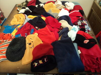 Wholesale Lot 37 Infant Toddler Boys Pre-Owned Winter Hats Resale Lot - Nice!