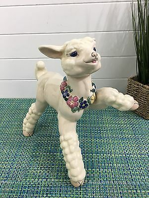 Kay Finch Tall Prancing Lamb Ceramic Figurine Statue~California Pottery