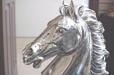 Large artist signed horse head stamped 925 sterling silver, price tag $8250