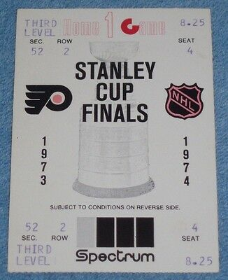 1973-74 Stanley Cup Finals Game #3 Philadelphia Flyers NHL Champions Ticket