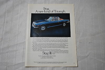 Triumph Stag Automobile 1971 Playboy Magazine ad - Very Good
