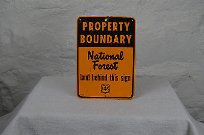 Property Boundary National Forest sign hunting fishing non porcelain sign deer