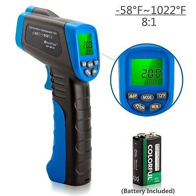 Laser Infrared Thermometer HOLDPEAK 981C Non-Contact Laser IR Temperature Gun...